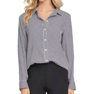 DKNY Striped Button-up Shirt Small